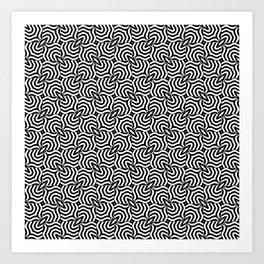 Zebra Stripe Black and White Optic Art Art Print