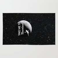 neverland Area & Throw Rugs featuring Take Me To Neverland by Amber Rose