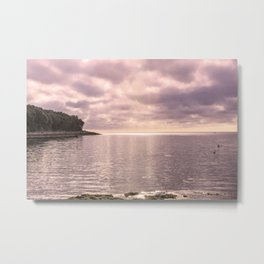 stormy sky and reflections on the placid sea Metal Print
