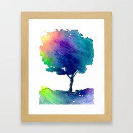 Hue Tree Framed Art Print