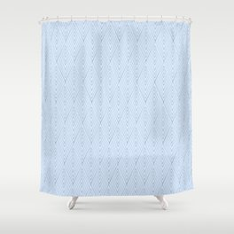 Icy Feather Shower Curtain