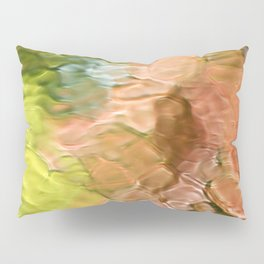 Coral Mosaic Abstract Art Pillow Sham