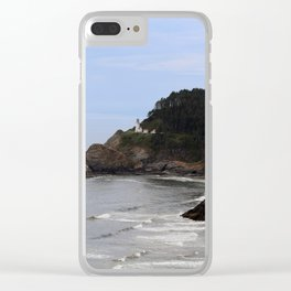 Heceta Head Lighthouse Clear iPhone Case