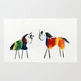 Little Rainbow Ponies Rug