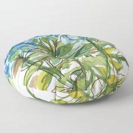 Hydrangeas in a group Floor Pillow