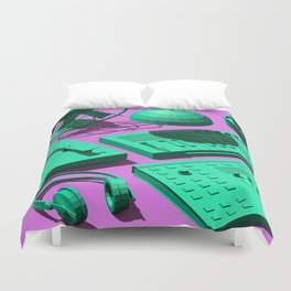Low Poly Studio Objects 3D Illustration Duvet Cover