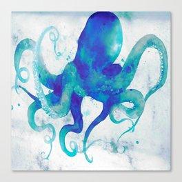 Octopus Watercolor Canvas Print
