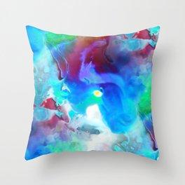 Acid clouds Throw Pillow
