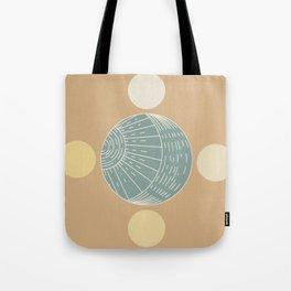 Bohemian Moon - Mid Century Modern Circles Tote Bag