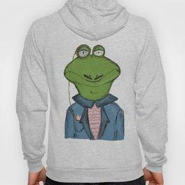 Sophisticated Frog Print Hoody