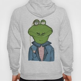 Sophisticated Frog Print Hoody