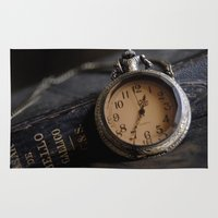 pocket Area & Throw Rugs featuring Pocket Watch by Colleen G. Drew