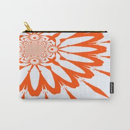 The Modern Flower White & Orange Carry-All Pouch