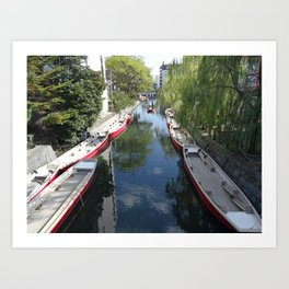 peaceful yanagawa canal Art Print