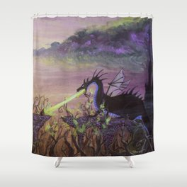 Maleficent's Wrath Shower Curtain