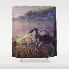 Maleficent's Wrath Shower Curtain