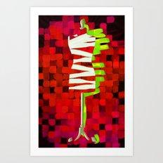Dummy Run #1, red Art Print