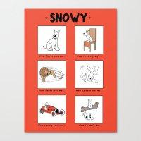 meme Canvas Prints featuring Snowy Meme by Rafstar Designs