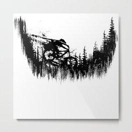 Black Drop Metal Print