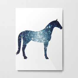 Horse - Two - Galaxy Metal Print