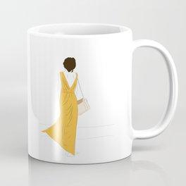 Yellow Dress Fashion Girl Coffee Mug