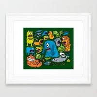 ice cream Framed Art Prints featuring Ice Cream by Chris Piascik
