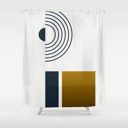 Soir 03 // Abstract Geometry Minimalist Illustration Shower Curtain