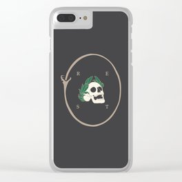 Rest to Dust Clear iPhone Case