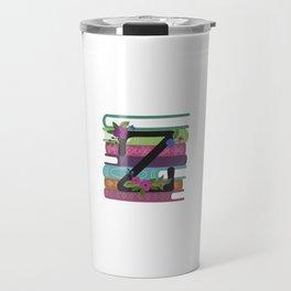 Bookish Monogram Collection Z Travel Mug