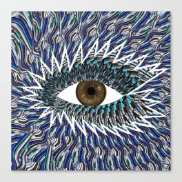 Origami Chakra Eye - Chocolate Brown Black Canvas Print