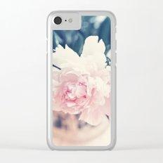 Beautiful Peony Flower Art Clear iPhone Case