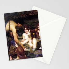 Hylas And The Nymphs John William Waterhouse Stationery Cards