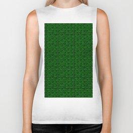 Binary Green Biker Tank
