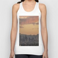 denver Tank Tops featuring Denver Skyline by Becca Buecher