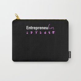 Female Entrepreneur CEO Business Girl Boss Strong Carry-All Pouch