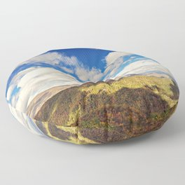 Mountaintop View Floor Pillow