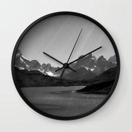 Patagonia Black and White Wall Clock