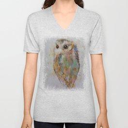 Owl Painting Unisex V-Neck