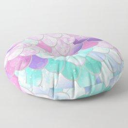 Mermaid Sweet Dreams, Pastel, Pink, Purple, Teal Floor Pillow