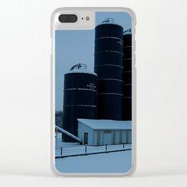 Snowy Silos Clear iPhone Case