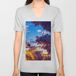 Fire in the Sky Unisex V-Neck