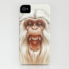 The White Angry Monkey iPhone (4, 4s) Slim Case