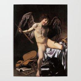 """Michelangelo Merisi da Caravaggio """"Amor Vincit Omnia"""" Poster"""