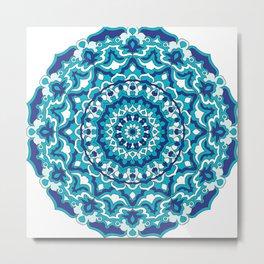 Blue mandala design Metal Print