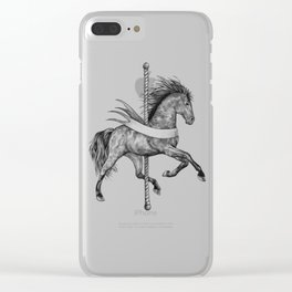 Carousel Horse Clear iPhone Case