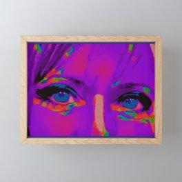 Debbie Purple Framed Mini Art Print