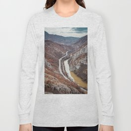 Beautiful picture of the canyon in Serbia. Dramatic sky and mountains Long Sleeve T-shirt