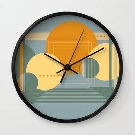 Geo Party #1 Wall Clock