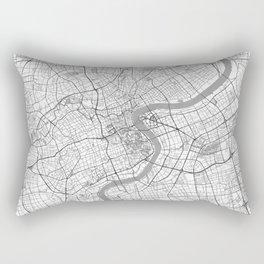Shanghai Map Line Rectangular Pillow