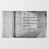 jane austen Area & Throw Rugs featuring Jane Austen Book by KimberosePhotography